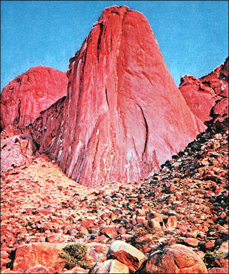 Африка. Красные скалы. Фото, фотография