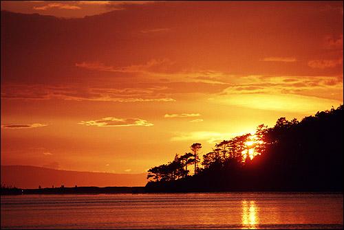 Красный закат (расвет). Фото, фотография