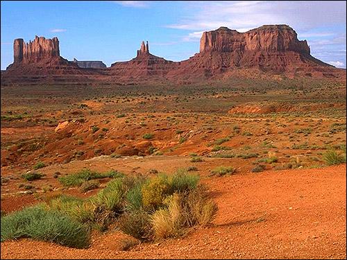 Красная полупустыня. Фото, фотография