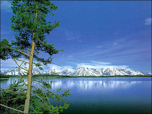 Горное озеро. Фото, фотография