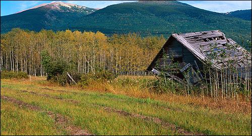 Домик в горах. Осень. Фото, фотография природа